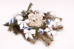 Christmas decorations and silver balls Royalty Free Stock Photography