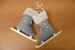 Christmas decorations skates Stock Image