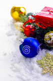 Christmas decorations. In the snow Royalty Free Stock Image