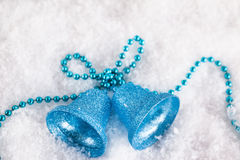 Christmas decorations on the snow Stock Images