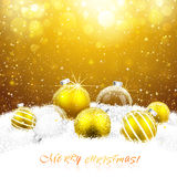 Christmas decorations in the snow Royalty Free Stock Photography