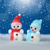 Christmas decorations and snow stock photo