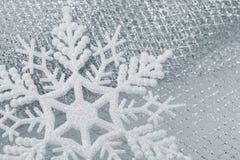 Christmas decorations - snowflake stock image
