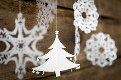 Christmas decorations snowflake ,christmas tree paper hanging Stock Photography