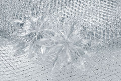 Christmas decorations snowflakes royalty free stock photography