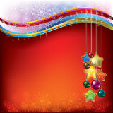 Christmas decorations with snowflakes Royalty Free Stock Photo