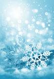 Christmas decorations snowflakes Stock Photos