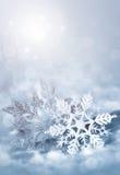 Christmas decorations snowflakes Stock Photo