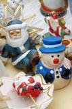 Christmas decorations snowman flea market Royalty Free Stock Photo