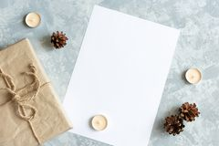 Christmas decorations with space for text. stock photography
