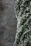 Christmas decorations - spruce tinsel Royalty Free Stock Photo