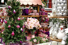 Christmas decorations store Stock Images