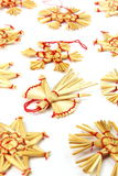 Christmas decorations from straw Royalty Free Stock Photo