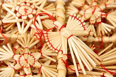 Christmas decorations from straw Royalty Free Stock Image