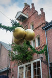 Christmas decorations in a street in Deventer Royalty Free Stock Photo