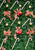Christmas decorations. On street in Taipei, Taiwan Royalty Free Stock Photos