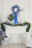 Christmas decorations. Studio interiors in Christmas style and bright colours Royalty Free Stock Photography