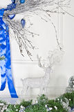 Christmas decorations. Studio interiors in Christmas style and bright colours Royalty Free Stock Images