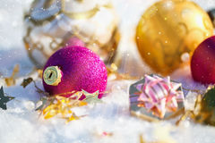 Christmas decorations in the sun Stock Photo