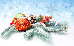 Christmas decorations and sweets Stock Image