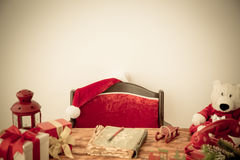 Christmas decorations on table Stock Photography