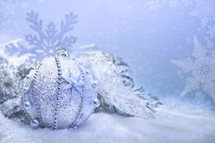 Christmas decorations, text space Royalty Free Stock Image