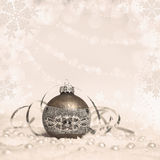 Christmas decorations, text space, tinted image Royalty Free Stock Photo