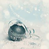 Christmas decorations, text space, tinted image Stock Image