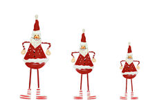 Christmas decorations - three Santas Royalty Free Stock Photos