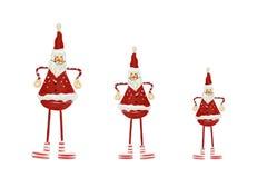 Christmas decorations - three Santas royalty free stock photos