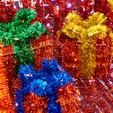 Christmas decorations of tinsel Royalty Free Stock Photography