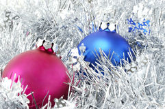 Christmas decorations and tinsel Royalty Free Stock Photography