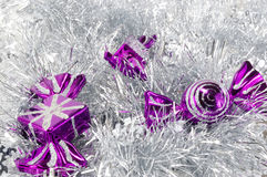 Christmas decorations and tinsel Stock Photography