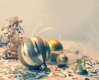 Christmas decorations, tinted image Royalty Free Stock Photography