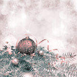 Christmas decorations, tinted image, text space Stock Image