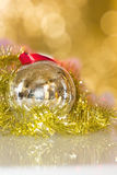 Christmas decorations toys. Beautiful christmas decoration close-up Stock Photos