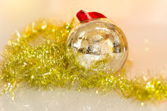Christmas decorations toys. Beautiful christmas decoration close-up Stock Images