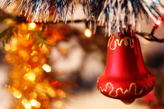 Christmas decorations. The Christmas decorations on the Christmas tree Stock Image
