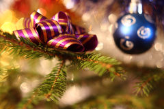 Christmas decorations. The Christmas decorations on the Christmas tree Royalty Free Stock Images