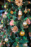 Christmas decorations and tree Royalty Free Stock Photos