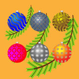 Christmas decorations. For the Christmas tree Royalty Free Stock Photos