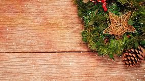 Christmas decorations and tree branches stock video footage