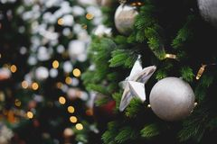 Christmas decorations, Christmas tree, gifts, new year royalty free stock photo
