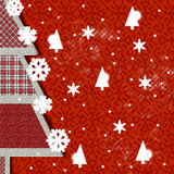 Christmas decorations. Tree of native with embroidery  jacquard Stock Image