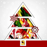 Christmas decorations. Tree of native with inside colored abstract and ornaments Royalty Free Stock Photo