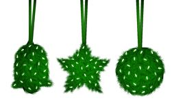 Christmas decorations from tree needles Stock Images