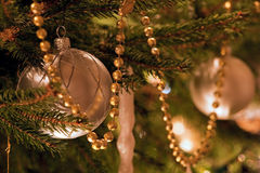 Christmas decorations on a tree with short dof Stock Image