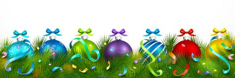 Christmas decorations. Vector Royalty Free Stock Images