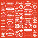 Christmas decorations vector design elements Stock Image