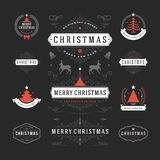 Christmas Decorations Vector Design Elements Royalty Free Stock Images